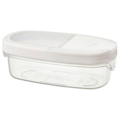 IKEA 365+ dry food jar with lid transparent/white 17 cm 8 cm 6 cm 0.3 l