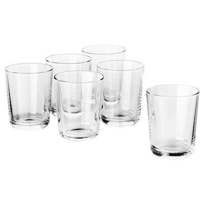 IKEA 365+ glass clear glass 9 cm 20 cl 6 pack