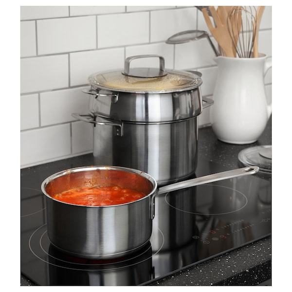 IKEA 365+ Saucepan with lid, stainless steel/glass, 2 l