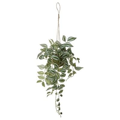 INVÄNDIG Artificial plant, hanging Spiderwort, 70 cm