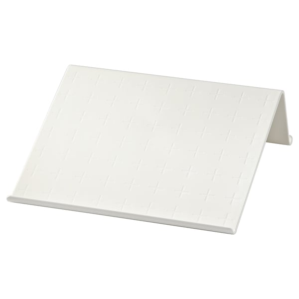 ISBERGET Tablet stand, white, 25x25 cm