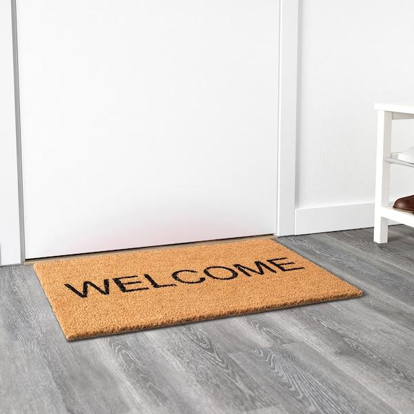 JANDERUP Door mat, natural/black, 40x70 cm
