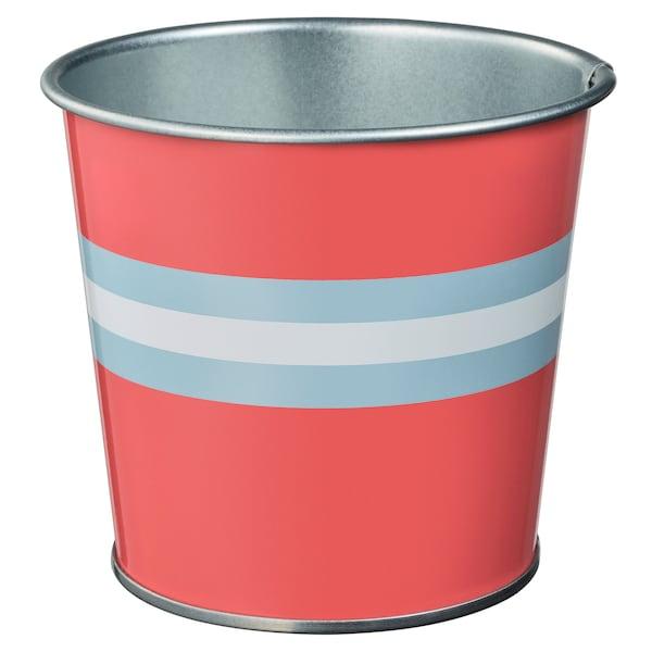 KAKIPLOMMON plant pot in/outdoor red-pink 10 cm 11 cm 9 cm 10 cm
