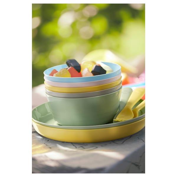 KALAS plate mixed colours 19 cm 6 pack