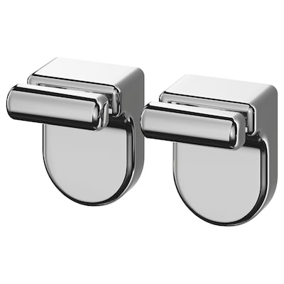 KALKGRUND Knob hanger, chrome-plated, 2 pack