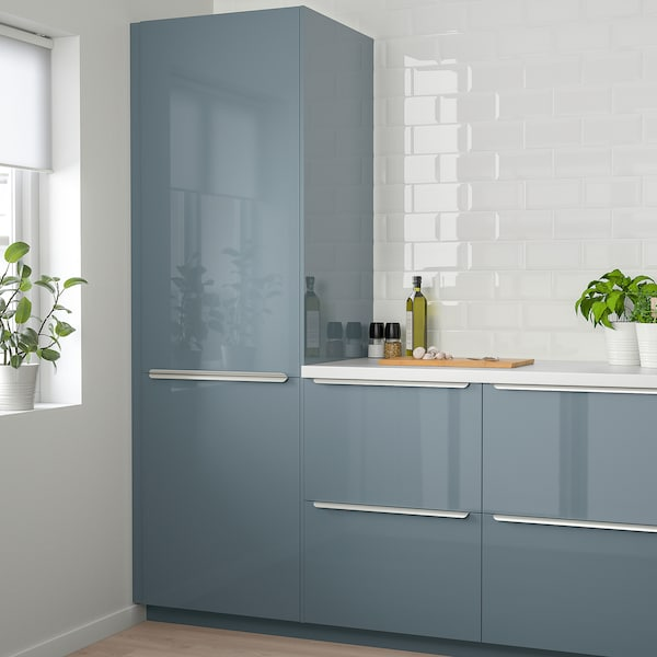 Kallarp Door High Gloss Grey Turquoise