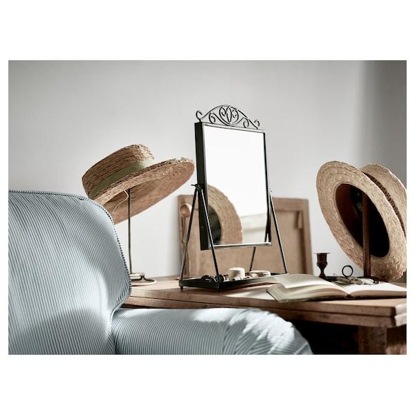 KARMSUND Table mirror, black, 27x43 cm