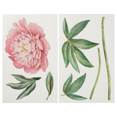 KINNARED Decoration stickers, Pink peony, 116 cm