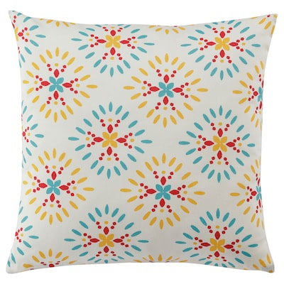 KLIBBARV cushion white/printed 210 /inch² 40 cm 40 cm 250 g 310 g 1 pack