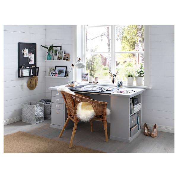 KLIMPEN Table, light grey, 150x75 cm