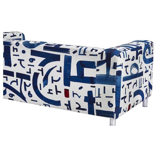 KLIPPAN 2-seat sofa, Änglatårar blue/white