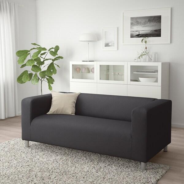 KLIPPAN 2-seat sofa Kabusa dark grey 180 cm 88 cm 66 cm 11 cm 54 cm 43 cm