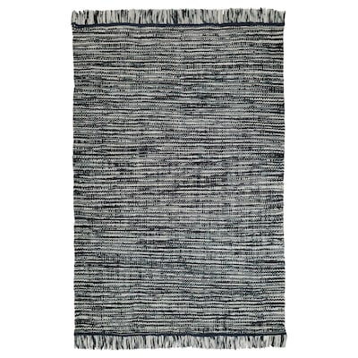 KÖPENHAMN rug, flatwoven handmade dark grey 240 cm 170 cm 4.08 m² 2400 g/m²