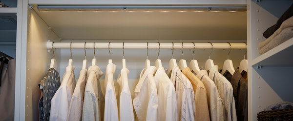 KOMPLEMENT Clothes rail, white, 100 cm