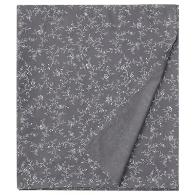KOPPARRANKA Sheet, floral patterned, 240x260 cm