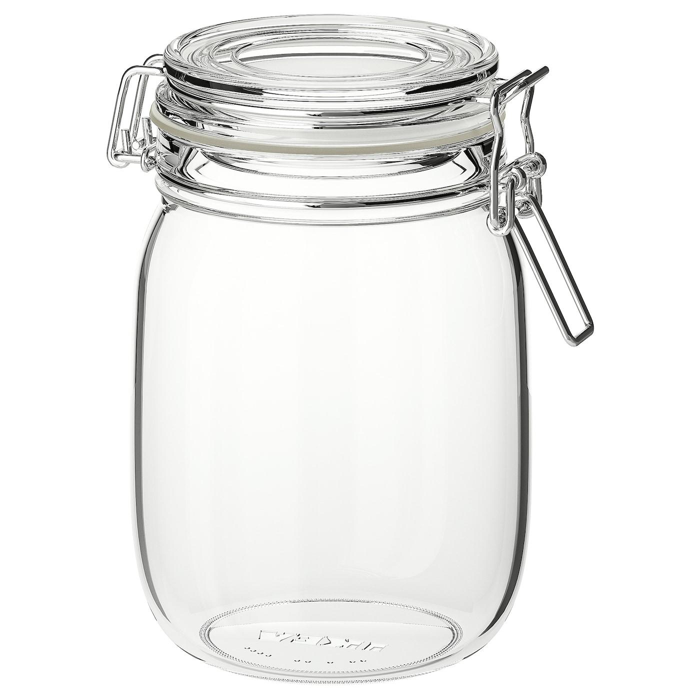 Korken Jar With Lid Clear Glass Learn More Ikea