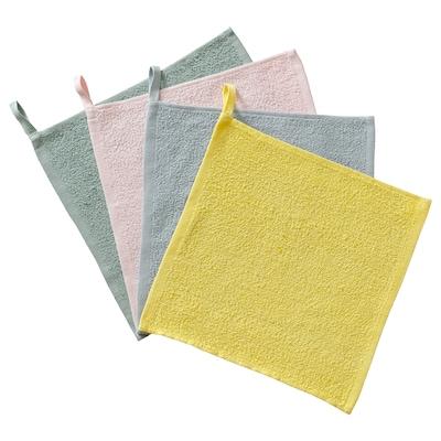 KRAMA Washcloth, mixed colours, 30x30 cm