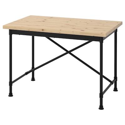 KULLABERG desk pine/black 110 cm 70 cm 75 cm 50 kg