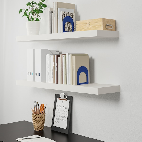 LACK Wall shelf, white, 110x26 cm