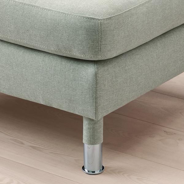 LANDSKRONA Footstool, Gunnared light green/metal