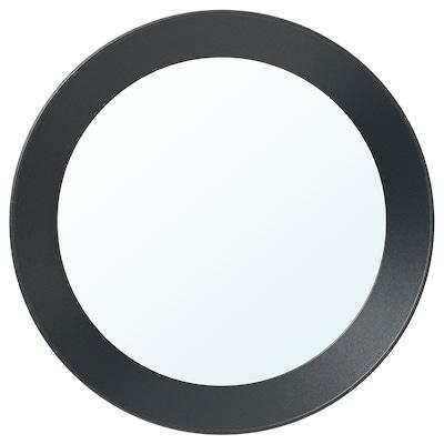 LANGESUND Mirror, dark grey, 25 cm