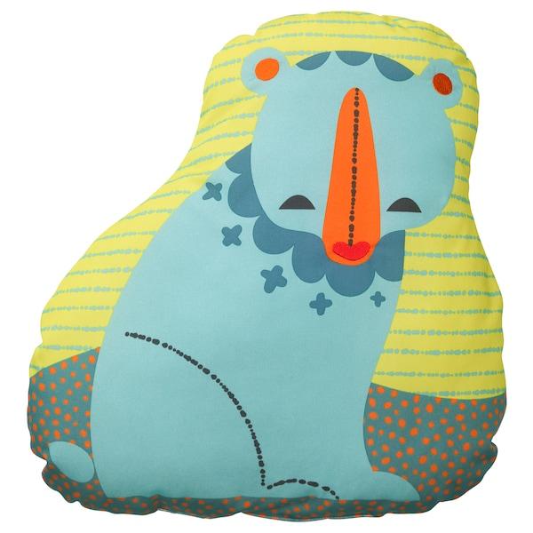 LATTJO Cushion, bear/blue green, 47x49 cm