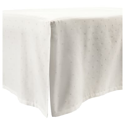 LENAST Cot skirt, dotted/white, 60x120 cm