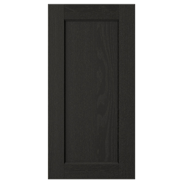 LERHYTTAN Door, black stained, 30x60 cm
