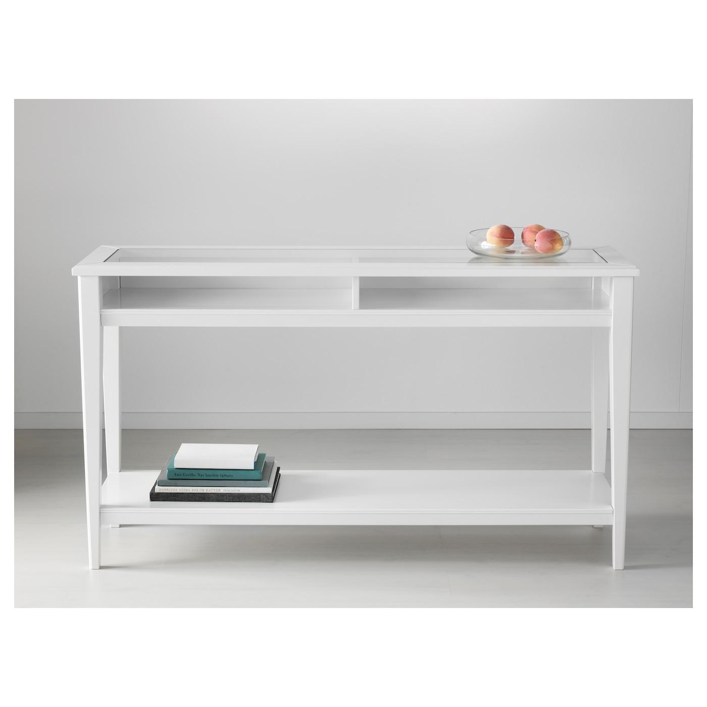 Consolle In Vetro Ikea.Liatorp Console Table White Glass 133x37 Cm Ikea