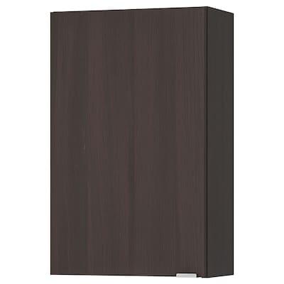 LILLÅNGEN Wall cabinet, black-brown, 40x21x64 cm