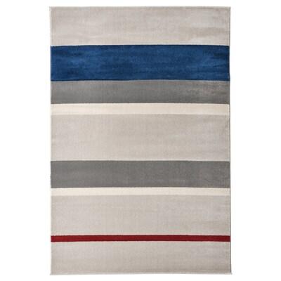 LILLEVORDE Rug, low pile, grey/multicolour, 133x195 cm