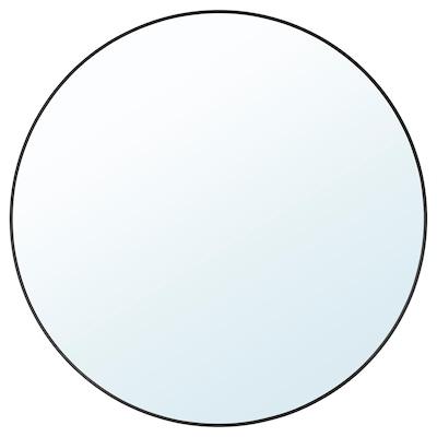 LINDBYN Mirror, black, 80 cm