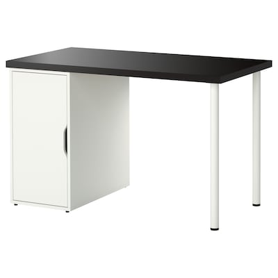 LINNMON / ALEX table black-brown/white 120 cm 60 cm 74 cm