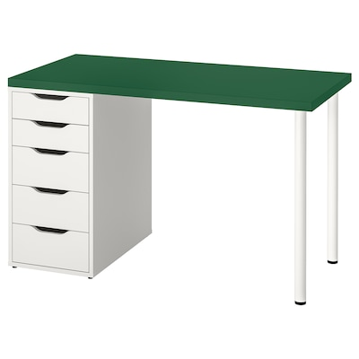 LINNMON / ALEX table green/white 120 cm 60 cm 74 cm
