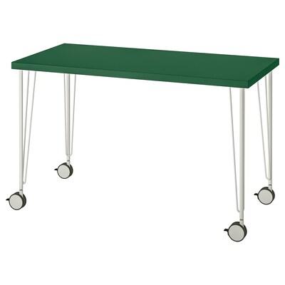LINNMON / KRILLE Table, green/white, 120x60 cm