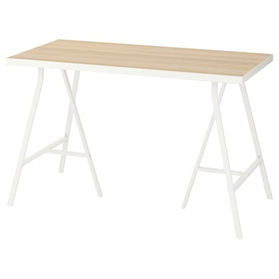 LINNMON table white white stained oak effect/white 120 cm 60 cm 74 cm 50 kg
