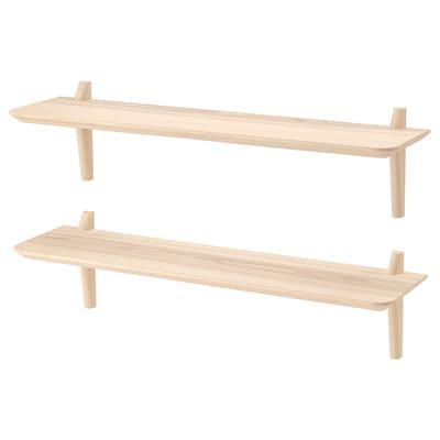 LISABO wall shelf combination ash veneer 118 cm 30 cm 30 cm