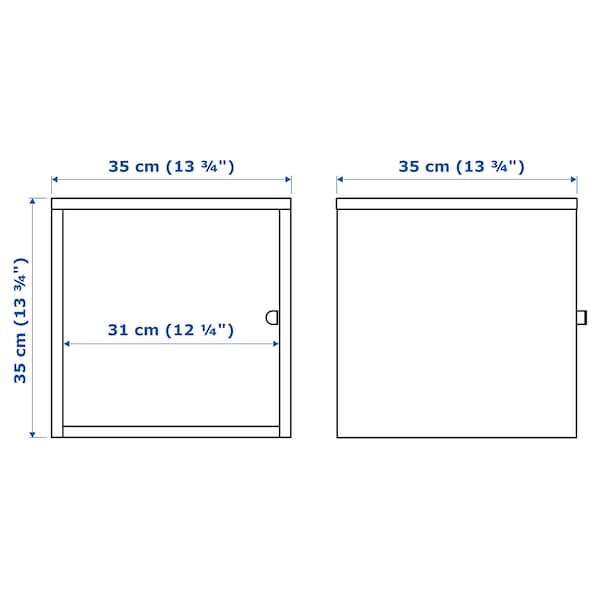 LIXHULT Cabinet, metal/blue, 35x35 cm