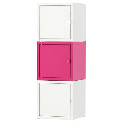 LIXHULT storage combination white/pink 25 cm 25 cm 75 cm