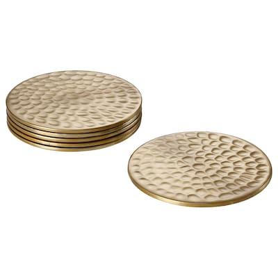 LJUV Coaster, gold-colour, 8 cm