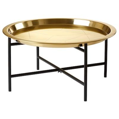 LJUV Tray table, gold-colour/black, 65x32 cm