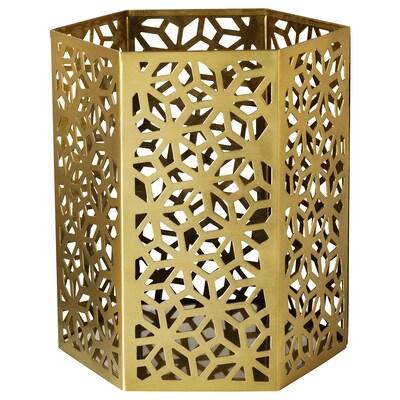LJUVARE Tealight holder, gold-colour, 15 cm