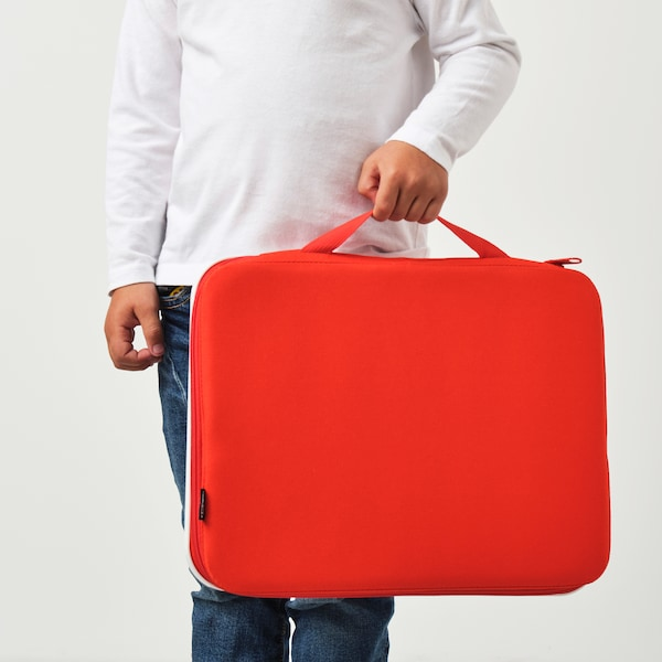 MÅLA Portable drawing case, red, 35x27 cm