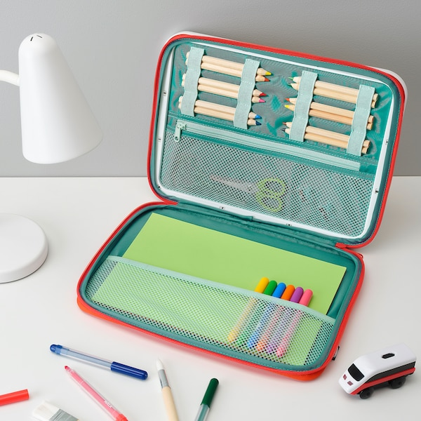MÅLA Portable drawing case - red - IKEA
