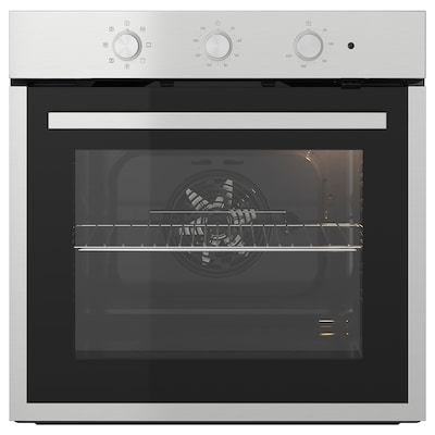 MATÄLSKARE Forced air oven, black/stainless steel