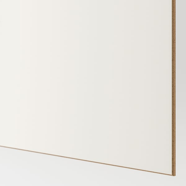 MEHAMN Pair of sliding doors, white stained oak effect/white, 200x236 cm