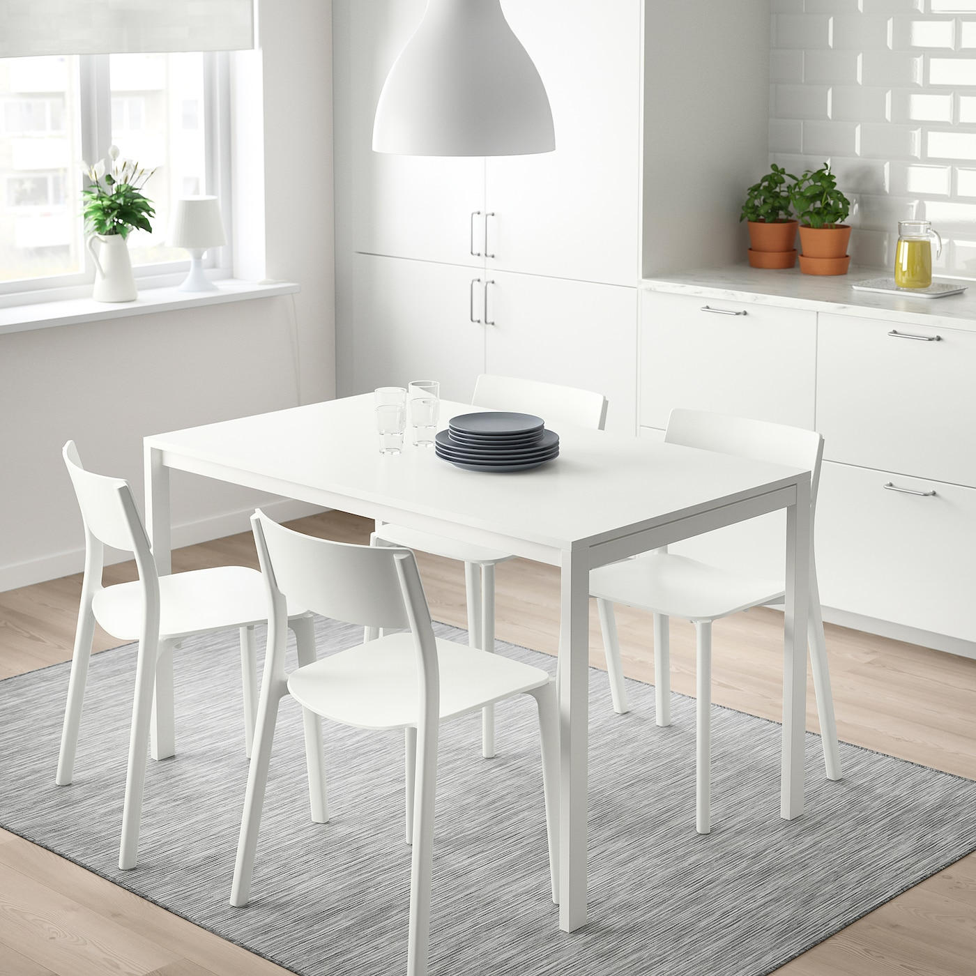 Picture of: Melltorp Table White 125×75 Cm Ikea