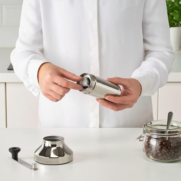 METALLISK Coffee grinder, stainless steel, 18 cm
