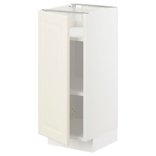 METOD Base cabinet with shelves, white/Bodbyn off-white, 30x37x70 cm