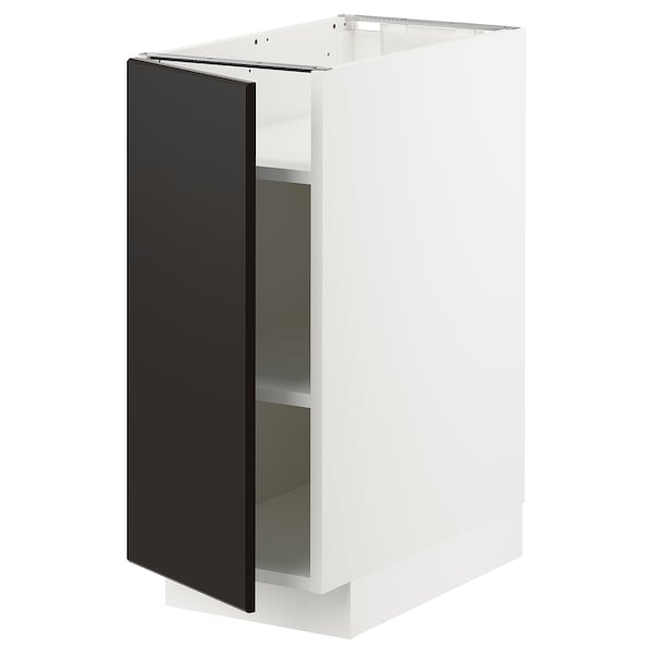 METOD Base cabinet with shelves, white/Kungsbacka anthracite, 30x60x70 cm